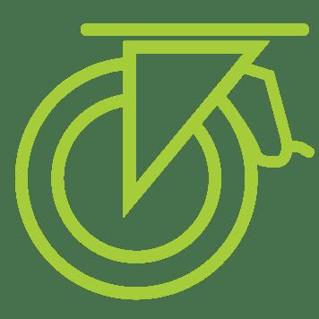 Rodízios giratórios com freio